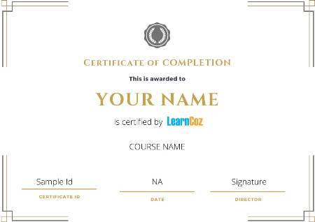 LearnCoz Certificate